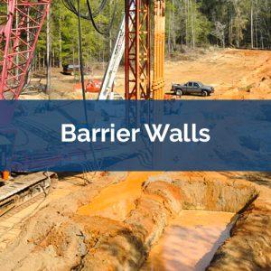 soil mixing barrier-walls