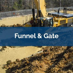 permeable reactive barrier funnel gate