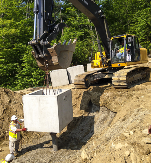 Bennington vt ground water collection trench for Construction bio