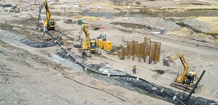 services-bio-polymer-trenches-composite-collection-systems-HDPE-piute-dam2-ut