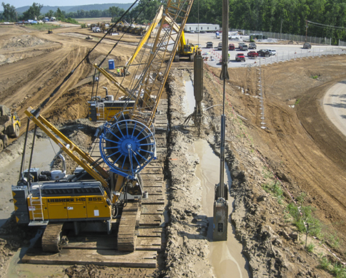 Slurry Wall Construction : Smithland ky slurry wall construction hydroelectric