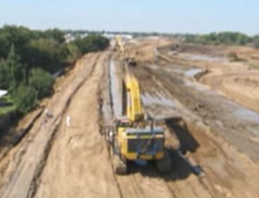 Soil-Bentonite-Slurry-Wall-Installation-Levee-Improvement