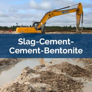 slurry walls slag-cement-cement-bentonite