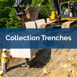 bio-polymer trench collection trenches
