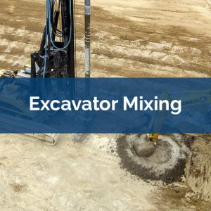 soil mixing excavator-mixing