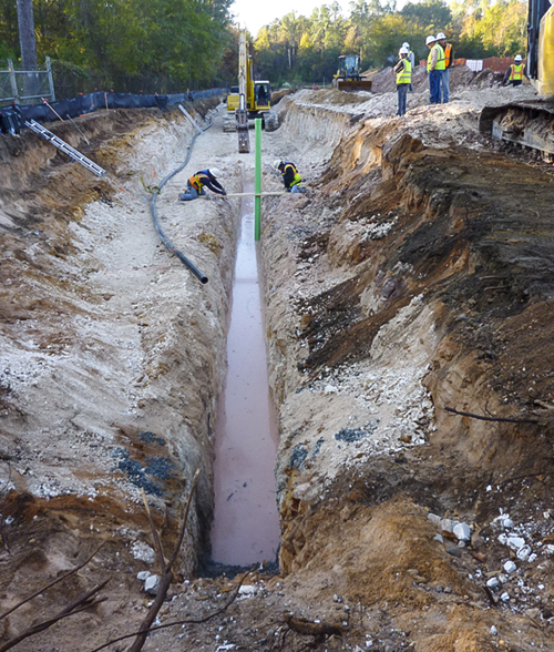 services bio-polymer trenches collection trenches deep drains warner robins2-ga