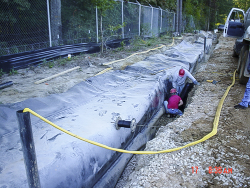 services bio-polymer trenches composite systems HDPE raleigh2-nc