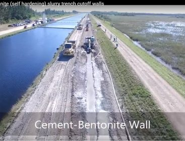 Cement-Bentonite Slurry Wall
